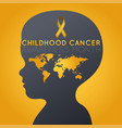 childhood cancer awareness month logo icon vector image vector image