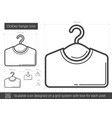 clothes hanger line icon vector image vector image
