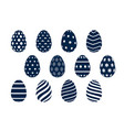collection sixteen patterned easter eggs vector image vector image