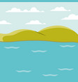 color background lake landscape with mountains vector image vector image