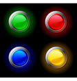 Colour buttons vector image vector image