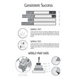 consistent success statistics vector image vector image