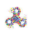 creative abstract hand spinner fidget spinner vector image vector image