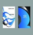 dark green business card vector image vector image