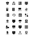 Database and Server Icons 3 vector image vector image