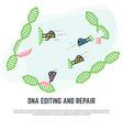 dna editing nano bots vector image vector image