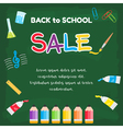 Event Back to School Sale green chalkboard vector image vector image
