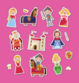 fairytale medieval set in cartoon style vector image