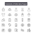fashion store boutique line icons signs vector image vector image