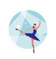 female dancer ballet character vector image