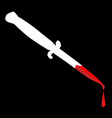 flick knife with blood vector image vector image