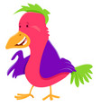 funny colorful bird cartoon character vector image vector image
