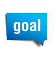 goal blue 3d realistic paper speech bubble vector image vector image