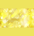 golden glowing abstraction design vector image