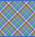 green blue check tartan plaid seamless pattern vector image vector image