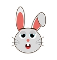 grey avatar rabbit with emotional face vector image vector image