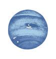 hand drawn neptune planet vector image