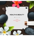 Health and beauty template vector image