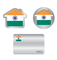 Home icon on the India flag vector image