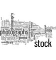 how to use and select stock photography services vector image vector image