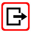 icon exit on white background vector image