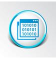 icon of code window program programming website vector image vector image