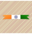 India national Label and Ribbon vector image