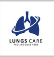 lungs care logo template design vector image vector image