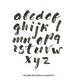 Modern ink Alphabet font vector image vector image