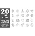 modern thin line icons set data science vector image