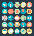 Office Colored Icons 4 vector image
