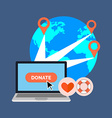 Online charity donate concept Flat design Isolated vector image