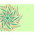 ornament on light green background vector image vector image