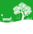 outdoor green vector image vector image