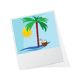 photo frame with beach icon vector image vector image