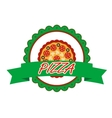 Pizza label or banner vector image