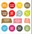 sale stickers and tags collection vector image vector image
