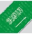 Saudi Arabian grunge flag vector image vector image
