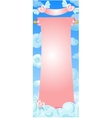 scroll banner in the clouds vector image vector image