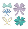 set of decorative bows vector image