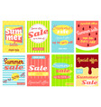 set of summer sale discount banners vector image