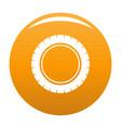 single tire icon orange vector image vector image