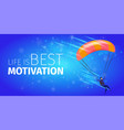 skydiver soaring in air banner parachuting sport vector image vector image
