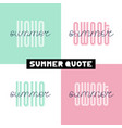 summer hand drawn brush font letterings summer vector image vector image