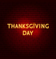 Thanksgiving day neon sign