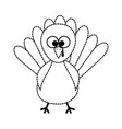 thanksgiving turkey character icon vector image vector image