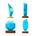 trophy glass awards collection rewards of vector image vector image