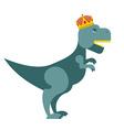 Tyrannosaurus Dinosaur King T-Rex most important vector image vector image