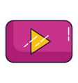 video player button on white background vector image vector image