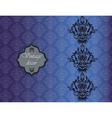 Vintage damask decor invitation pattern vector image vector image